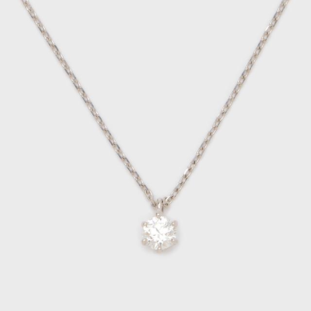 ENUOVE frutta Diamond Necklace Pt950(イノーヴェ フルッタ 0.2ct プラチナ950 ダイヤモンドネックレス スライドアジャスターチェーン)