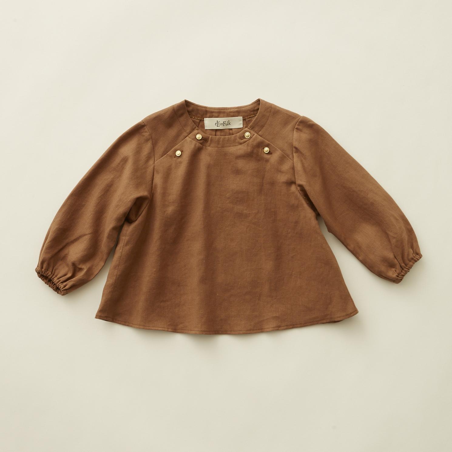 《eLfinFolk 2020AW》C/L washer  baby blouse / brown / 80-100cm