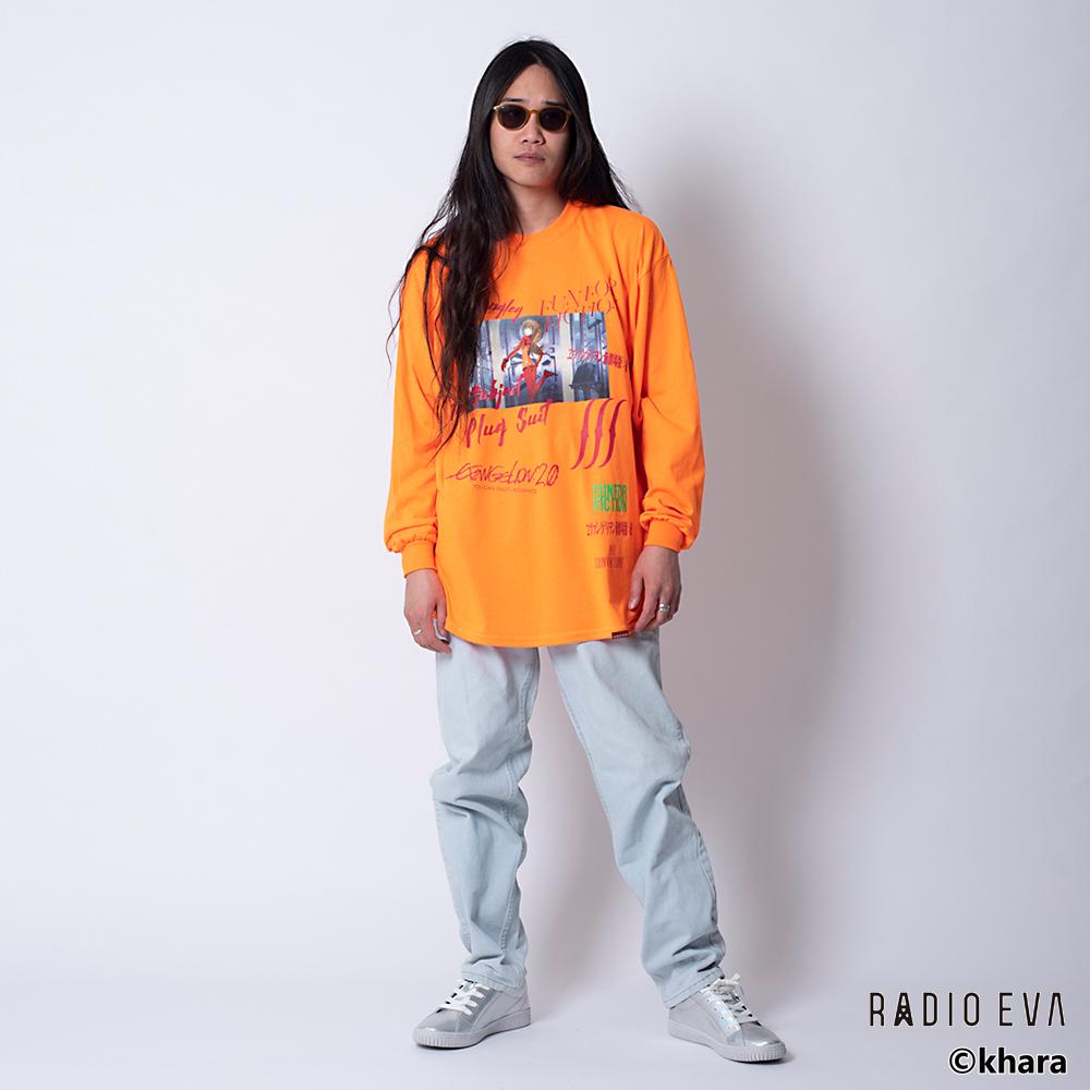 Asuka Langley Shikinami-Test Plug Suit L/S Tee (ORANGE)  /  RADIO EVA