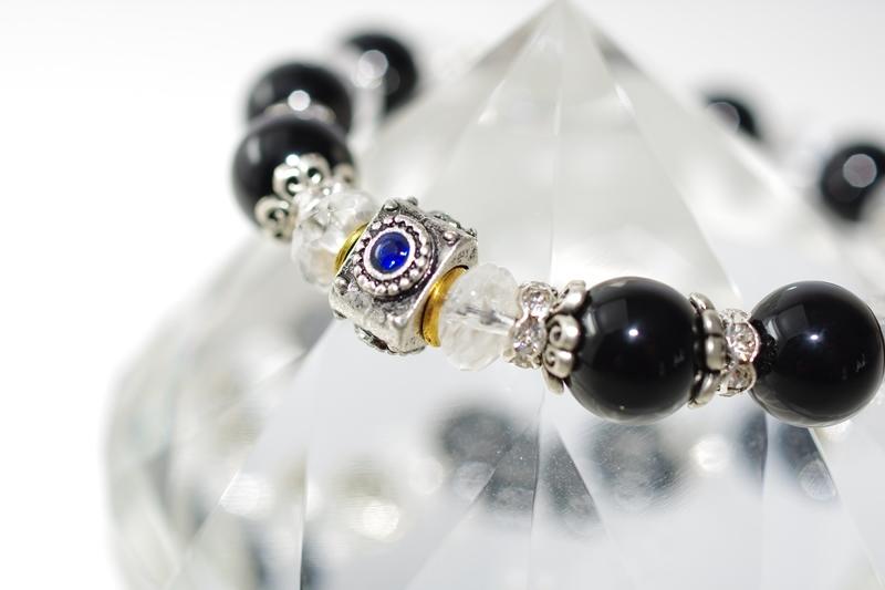 Talisman onyx&crystal タリスマン【パワーストーンブレスレット】 - 画像1