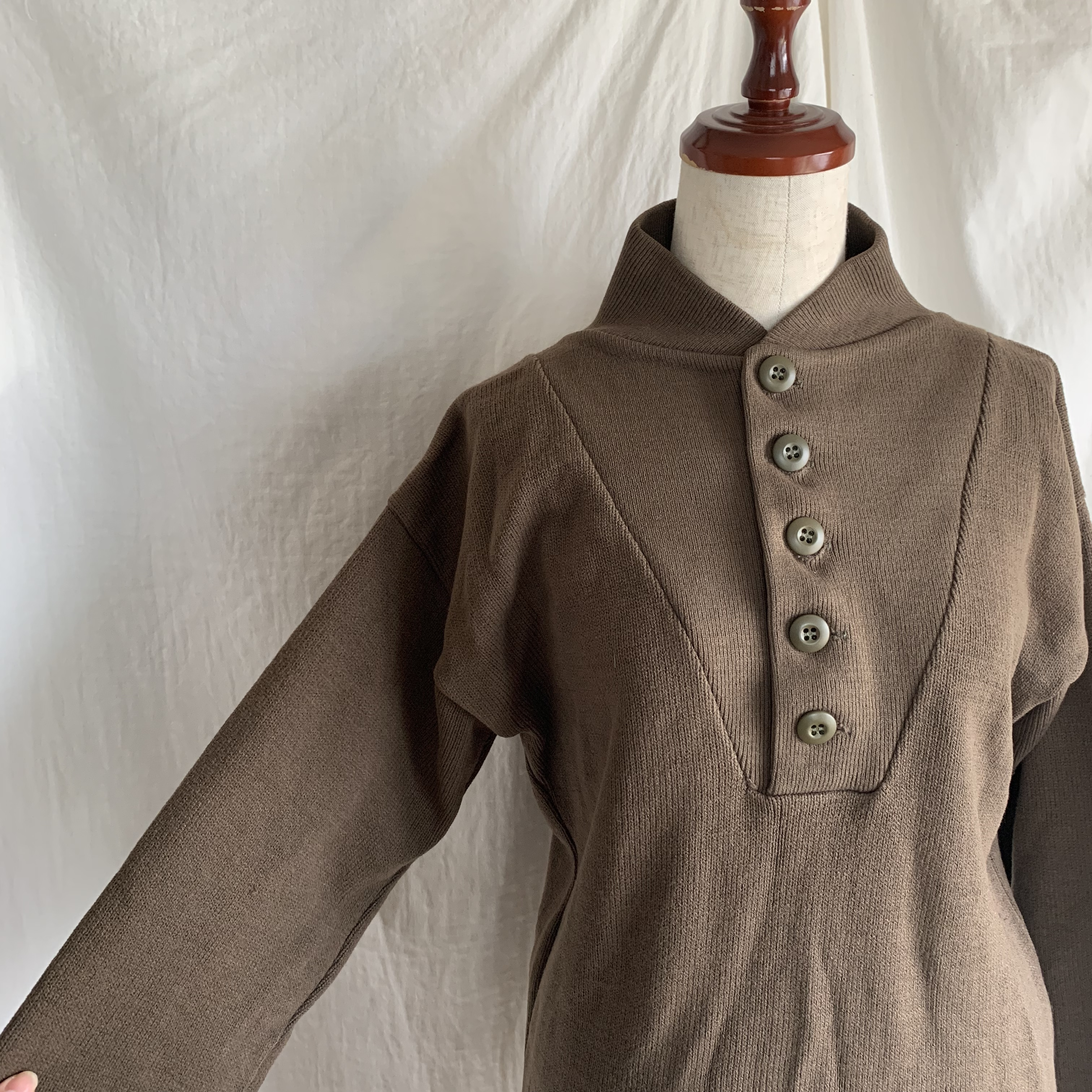 vintage military knit tops