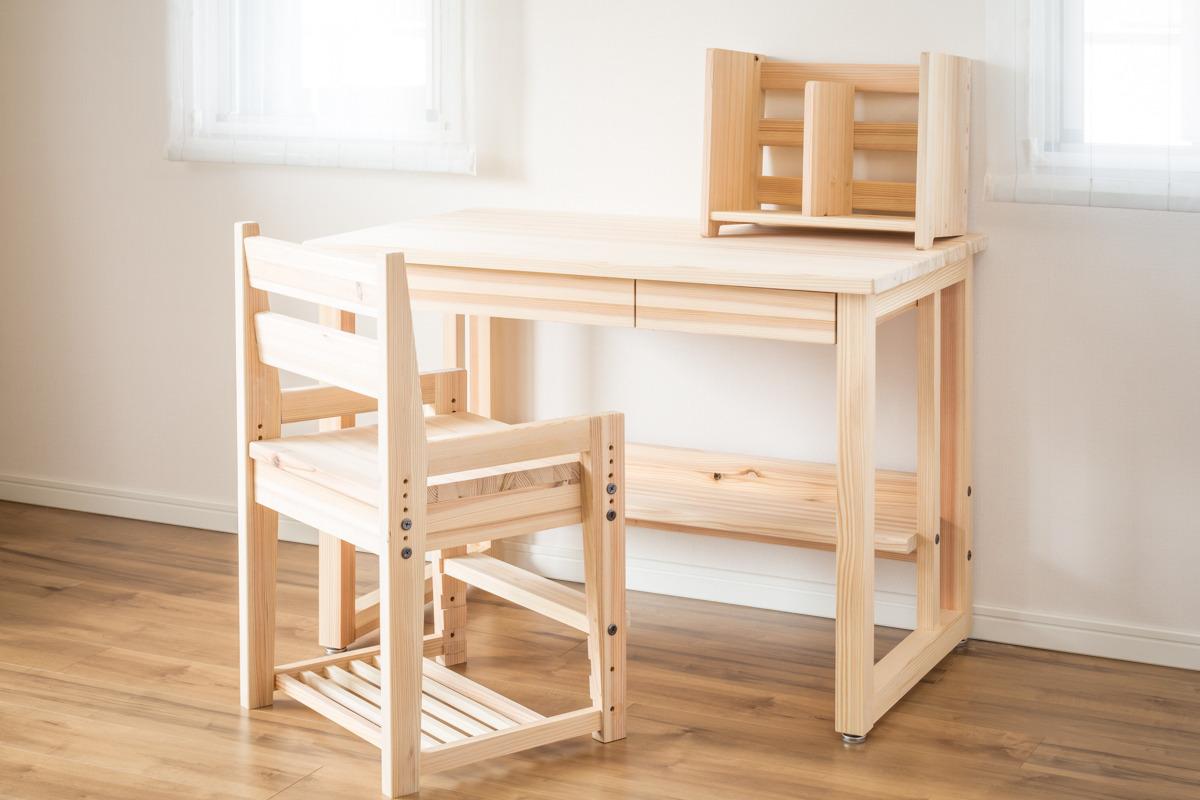 引き出し・棚つきデスク+本棚+椅子 (デスク幅100cm)   いこーよ