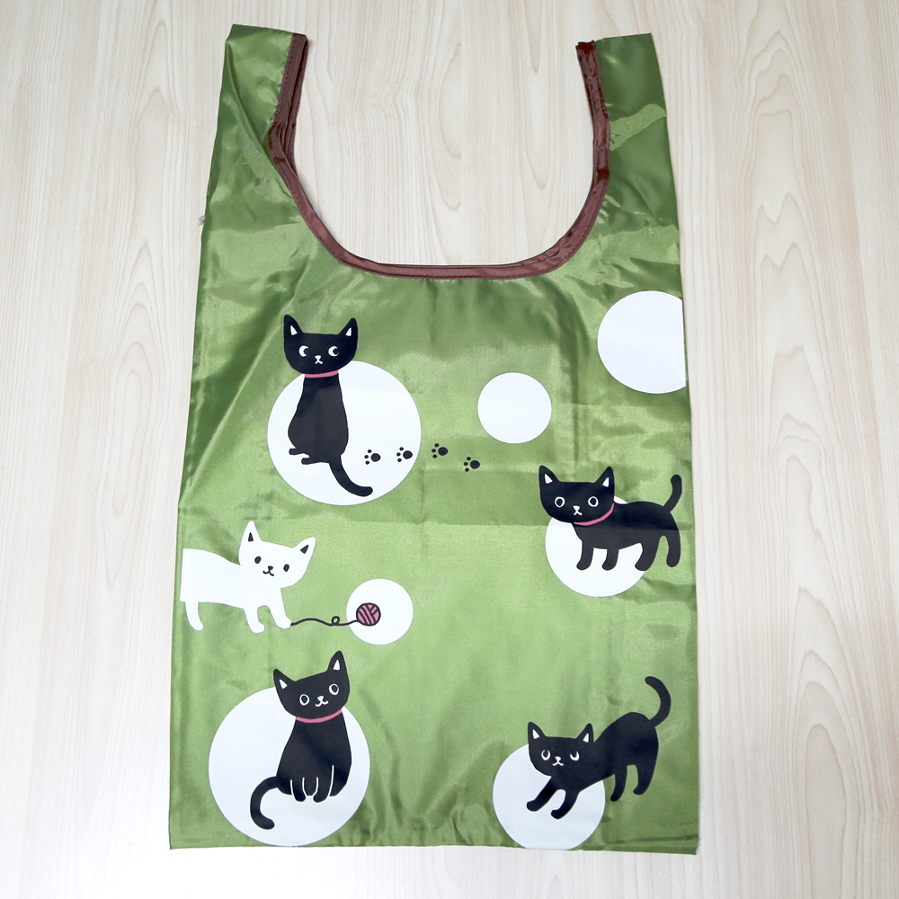 猫エコバッグ(猫と水玉)