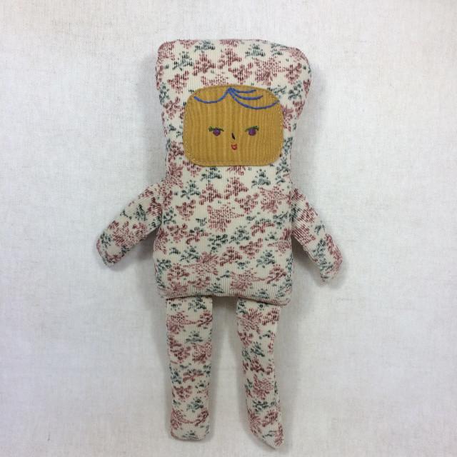 コール天の女の子(しろ)(ぬいぐるみ 人形)