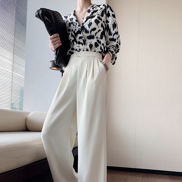 【1点のみ即納】white cool over pants