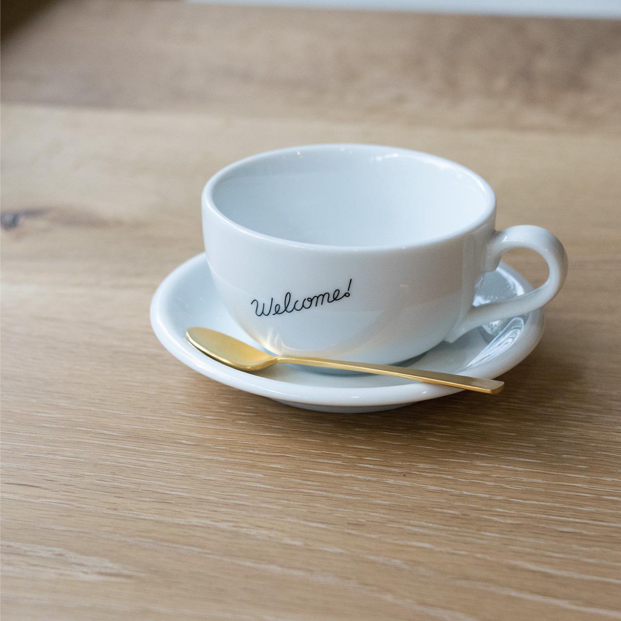 Welcome COFFEE Cup & Saucer / ラテボウル(8onz)+ソーサー