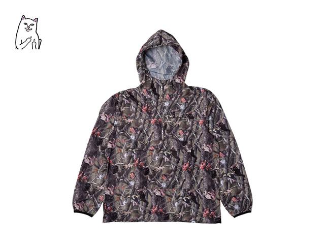 RIPNDIP|Nerm & Jerm Packable Anorak Jacket (Tree Camo)