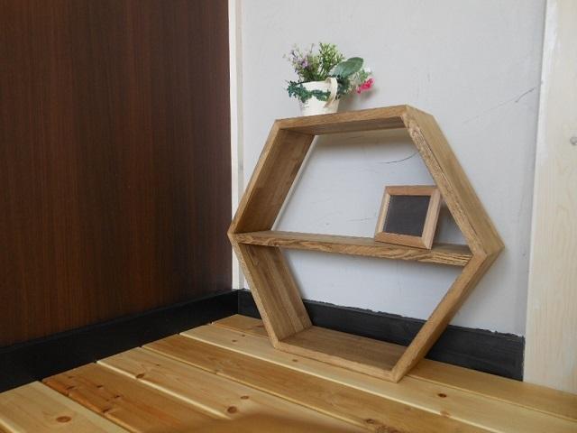 6角形シェルフ(展示使用品) - 画像2