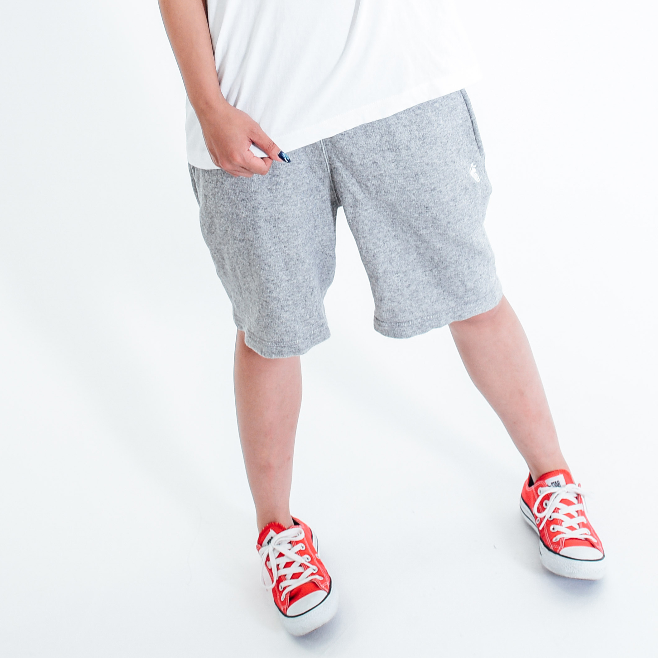【20% OFF】King Logo Sweat Short Pant / Grey - 画像1