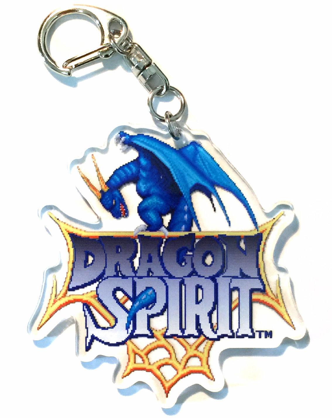 【ドラゴンスピリット30周年記念商品】タイトル画面 アクリルキーホルダー / GAMES GLORIOUS