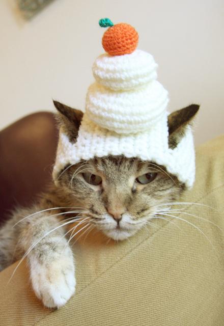 にゃんハット★鏡餅の猫帽子