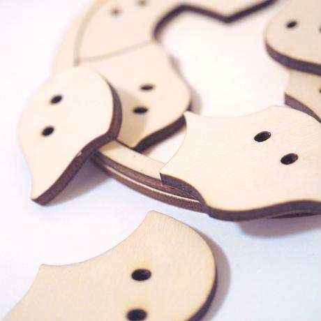 おばけパズルSARA(シナ合板4mm厚) / おばけパズル