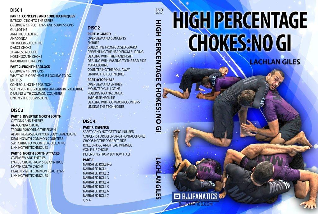 ラクラン・ジャイルズ  高確率に使えるチョーク DVD4枚セット|ノーギ、グラップリング教則DVD4枚セット