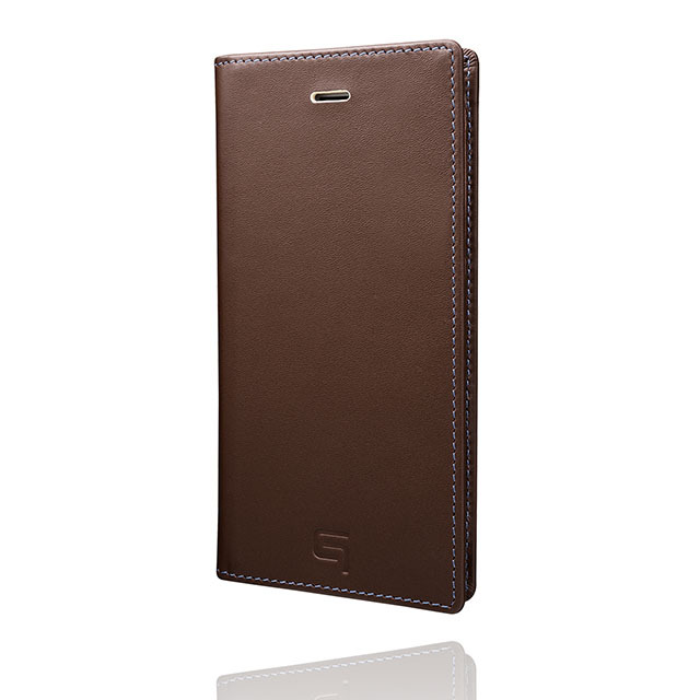 GRAMAS Full Leather Case スマホ堂 Limited for iPhone6s/6 Brown×Cream×Light Blue - 画像2