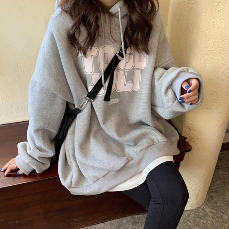 【送料無料】 今っぽパーカー♡ ゆるだぼ メンズライク オーバーサイズ フード付き フーディー パーカー