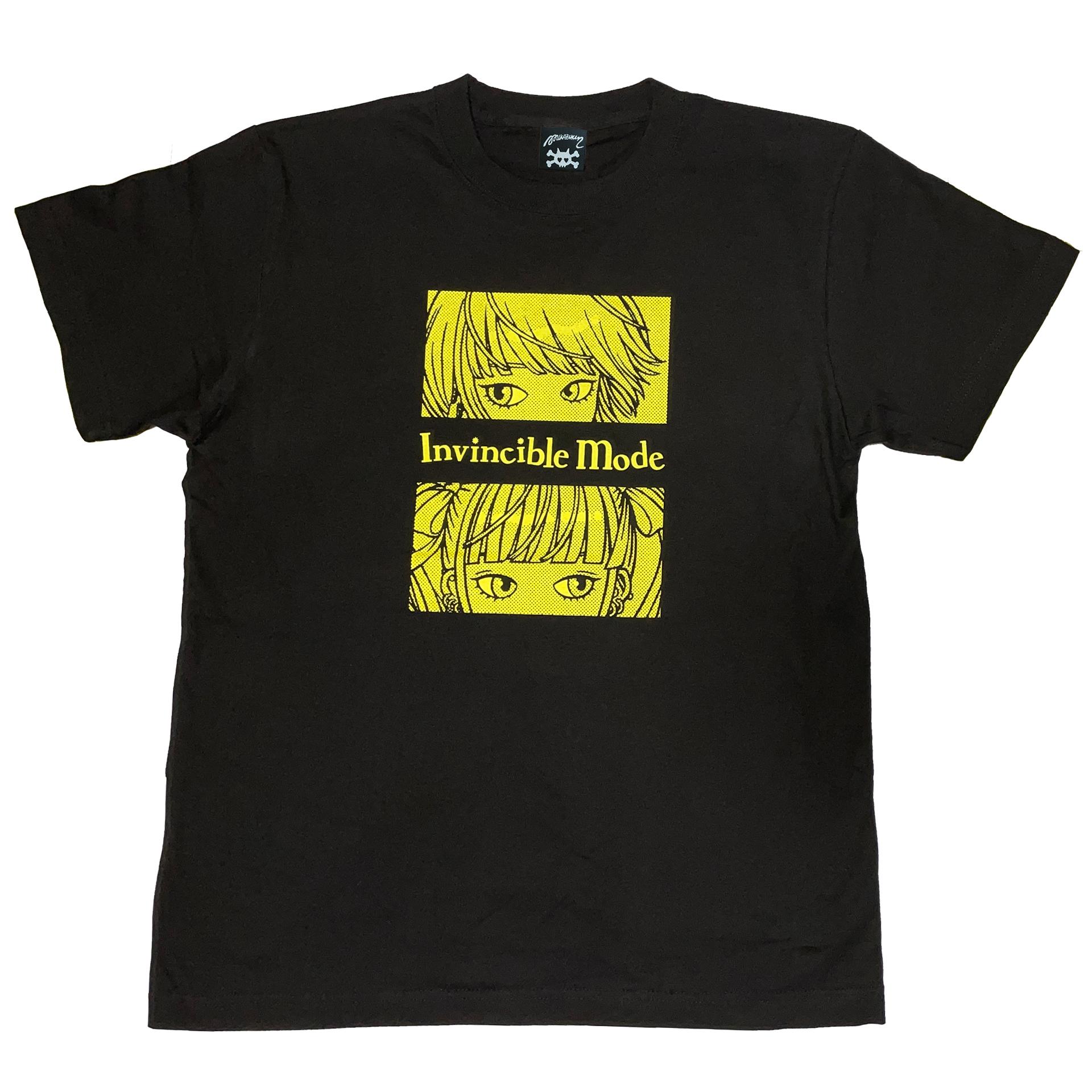 """"""" 無敵のミー """" Tシャツ black × yellow [ T-018]MIKAZUKI / ミカヅキ"""
