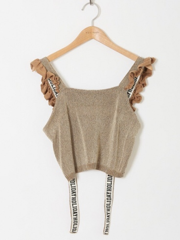 【HOLIDAY】TAPE KNIT CAMISOLE