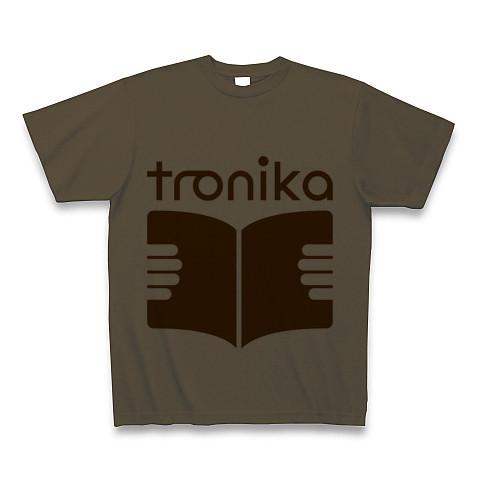 トロニカ ロゴ Tシャツ(オリーブ) - 画像1