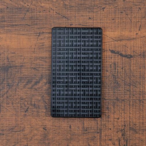 クロススクエア《ブラック》ジュラルミン アルミ 金属 名刺入れ カードケース ギフト