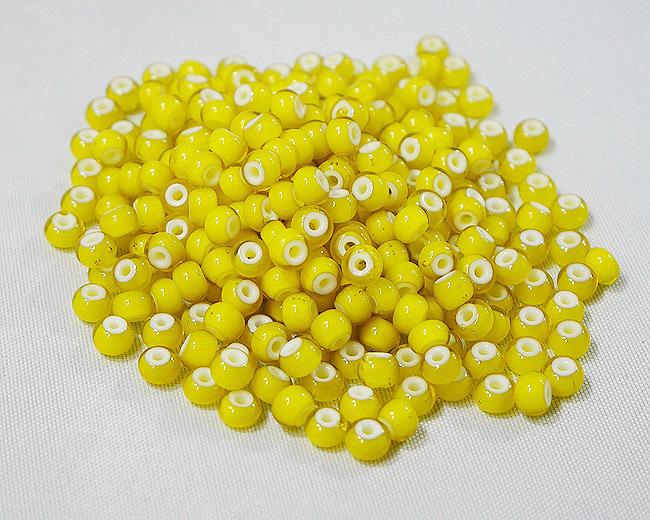 ホワイトハーツビーズ 黄色 丸5mm H2731WH13602