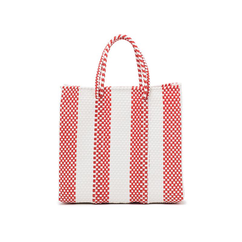 MERCADO BAG 4LINES-Red (S)