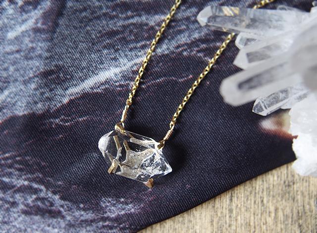 [一点物]大粒原石のダイヤモンドクォーツのネックレス