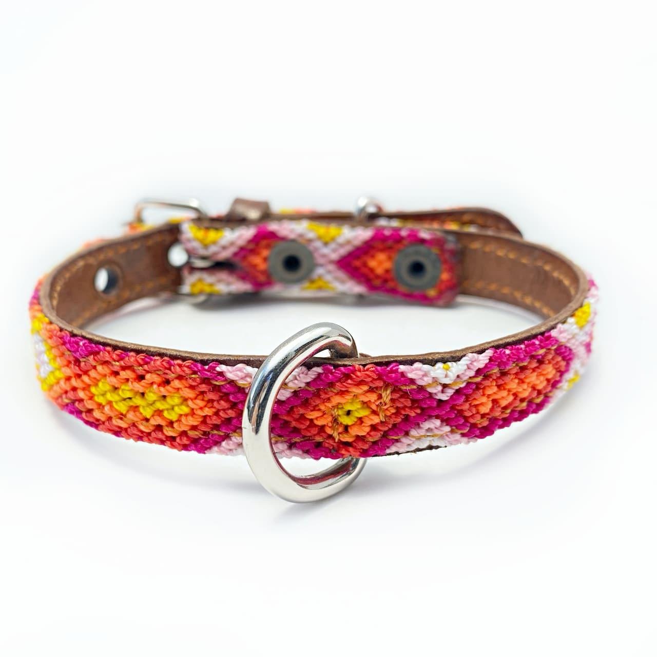 犬の首輪 -サイズXS mini- [ピンクグレープフルーツ]