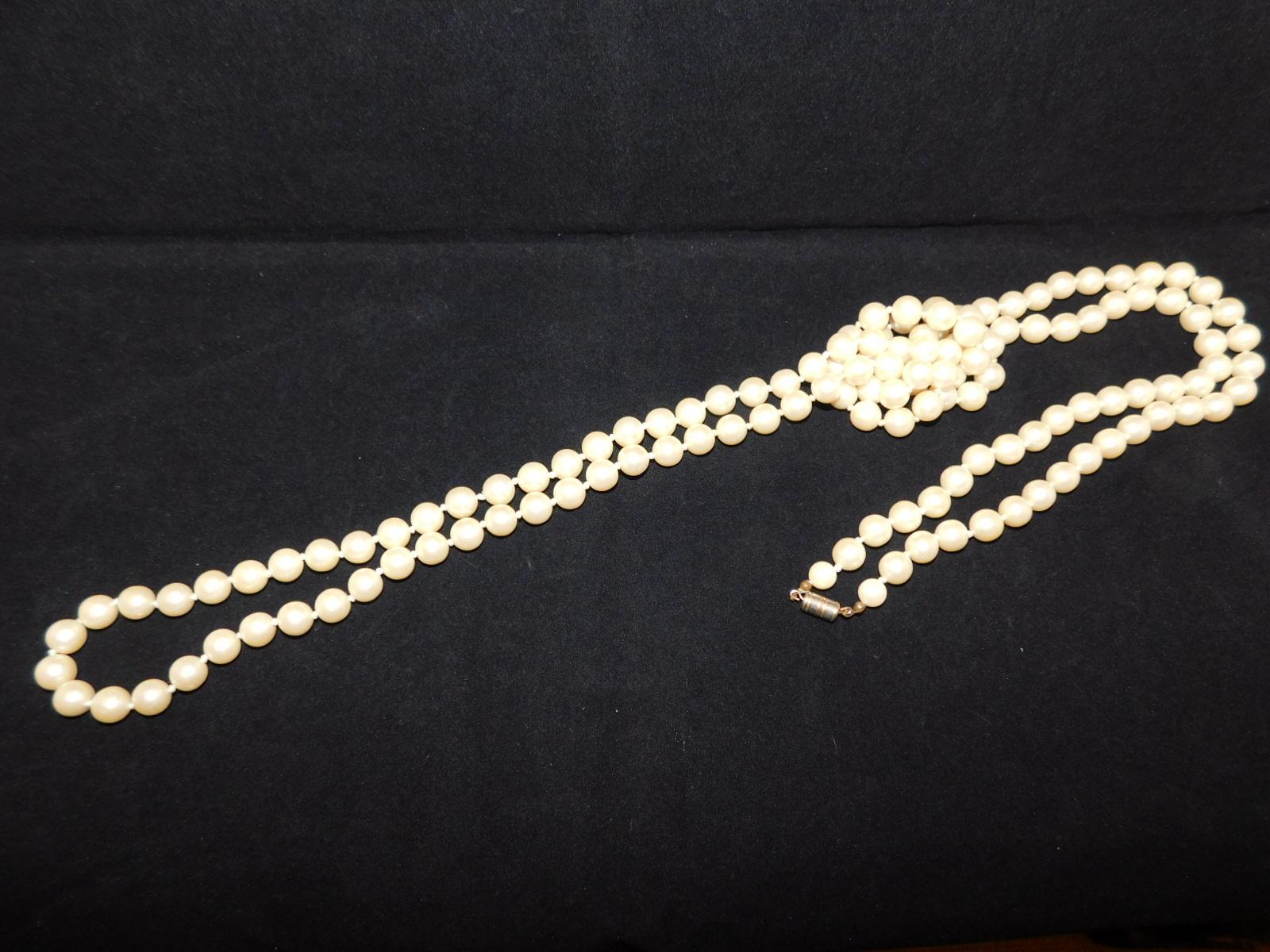 真珠ロングネックレvintage pearls long necklace