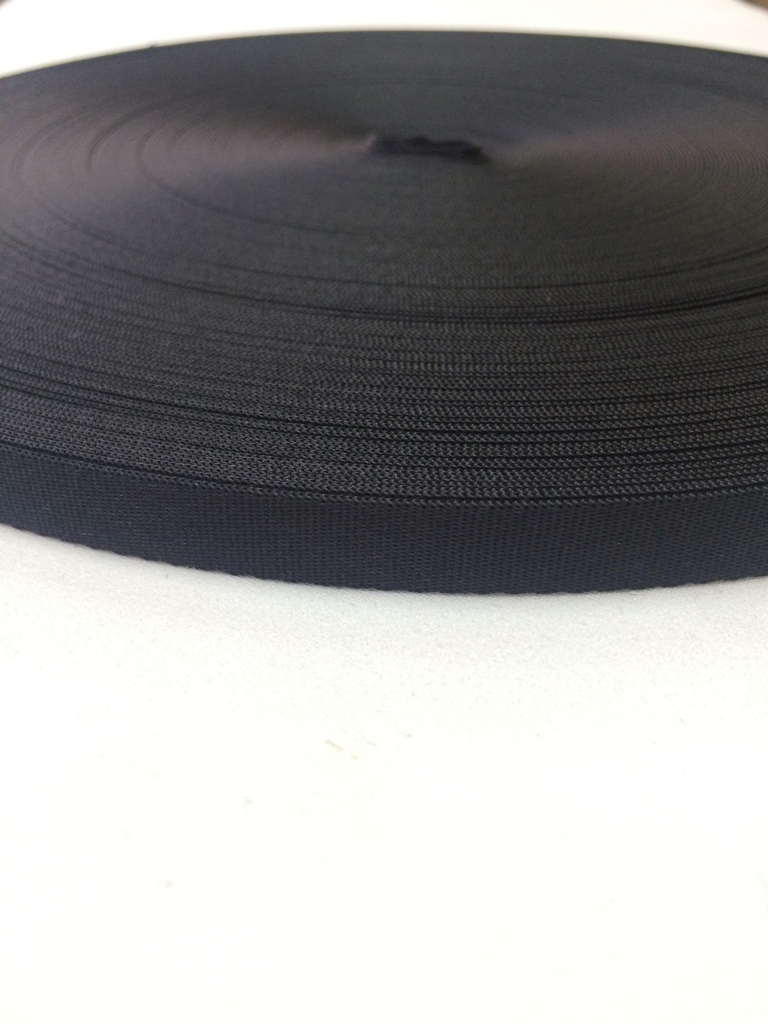 ナイロンテープ 流綾織 8mm幅 1.1mm厚 黒 5m