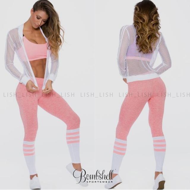 Bombshell SPORTSWEAR SOCK LEGGINGS ピンク