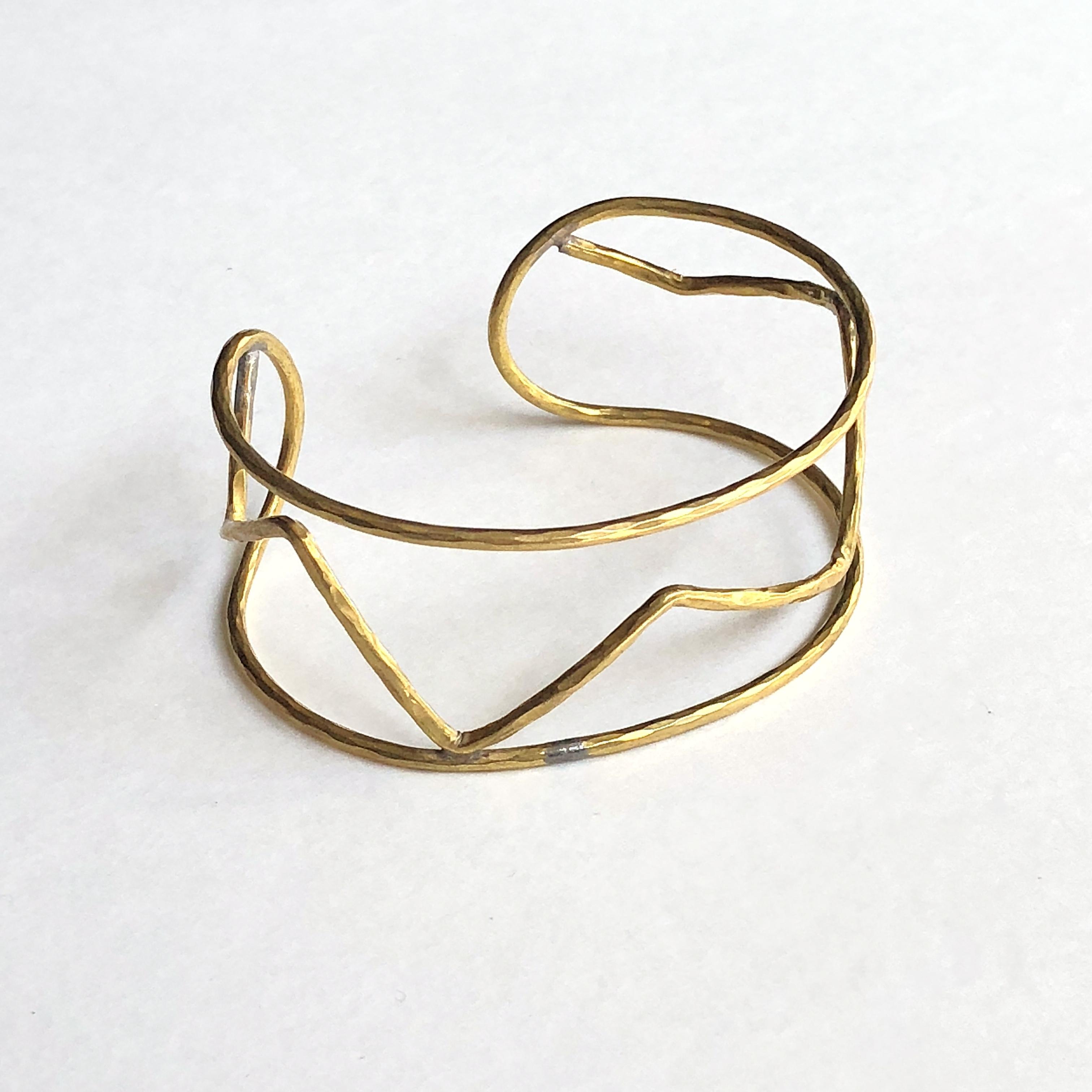 Zigzag wire bracelet No. 801