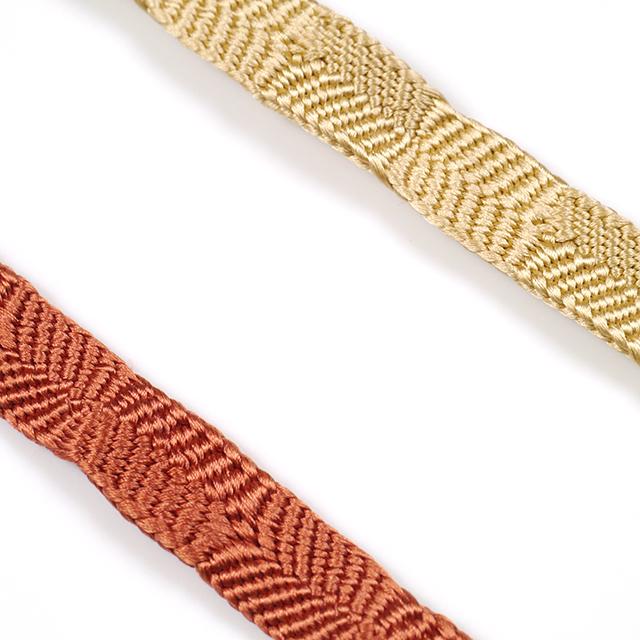 龍工房帯締め-平組-片身替り