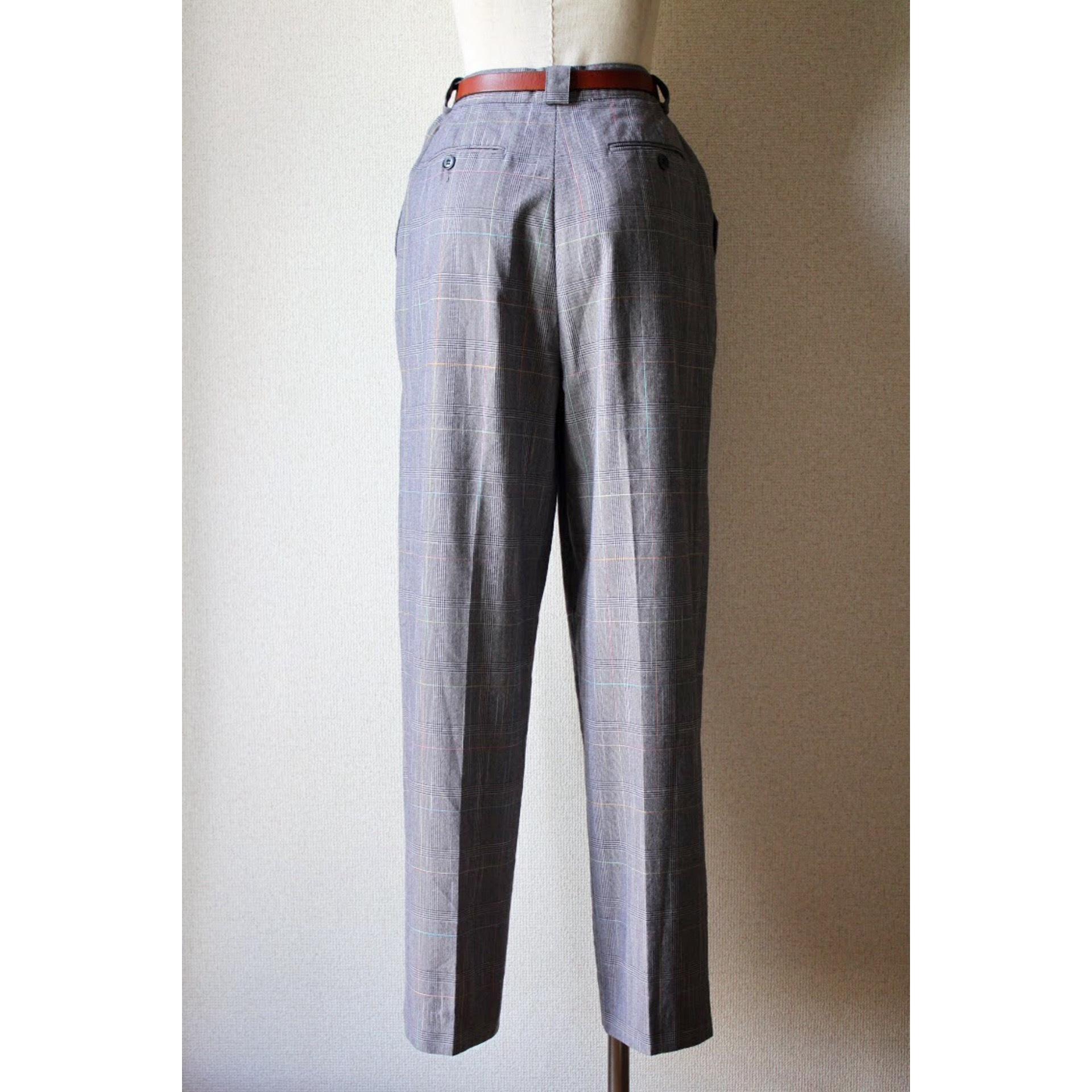 Vintage check tapered slacks