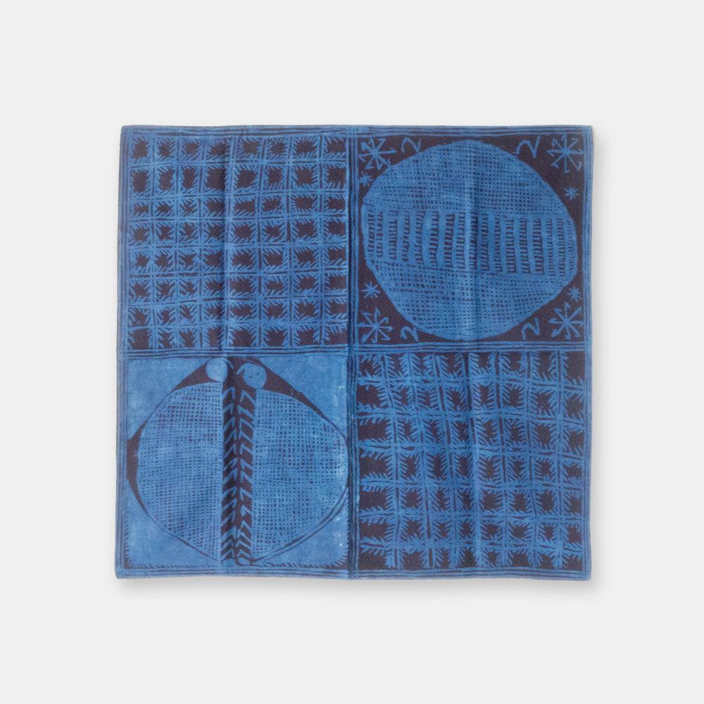 ナイジェリア ヨルバ族の藍染布 アディレ・エレコの風呂敷 SL039