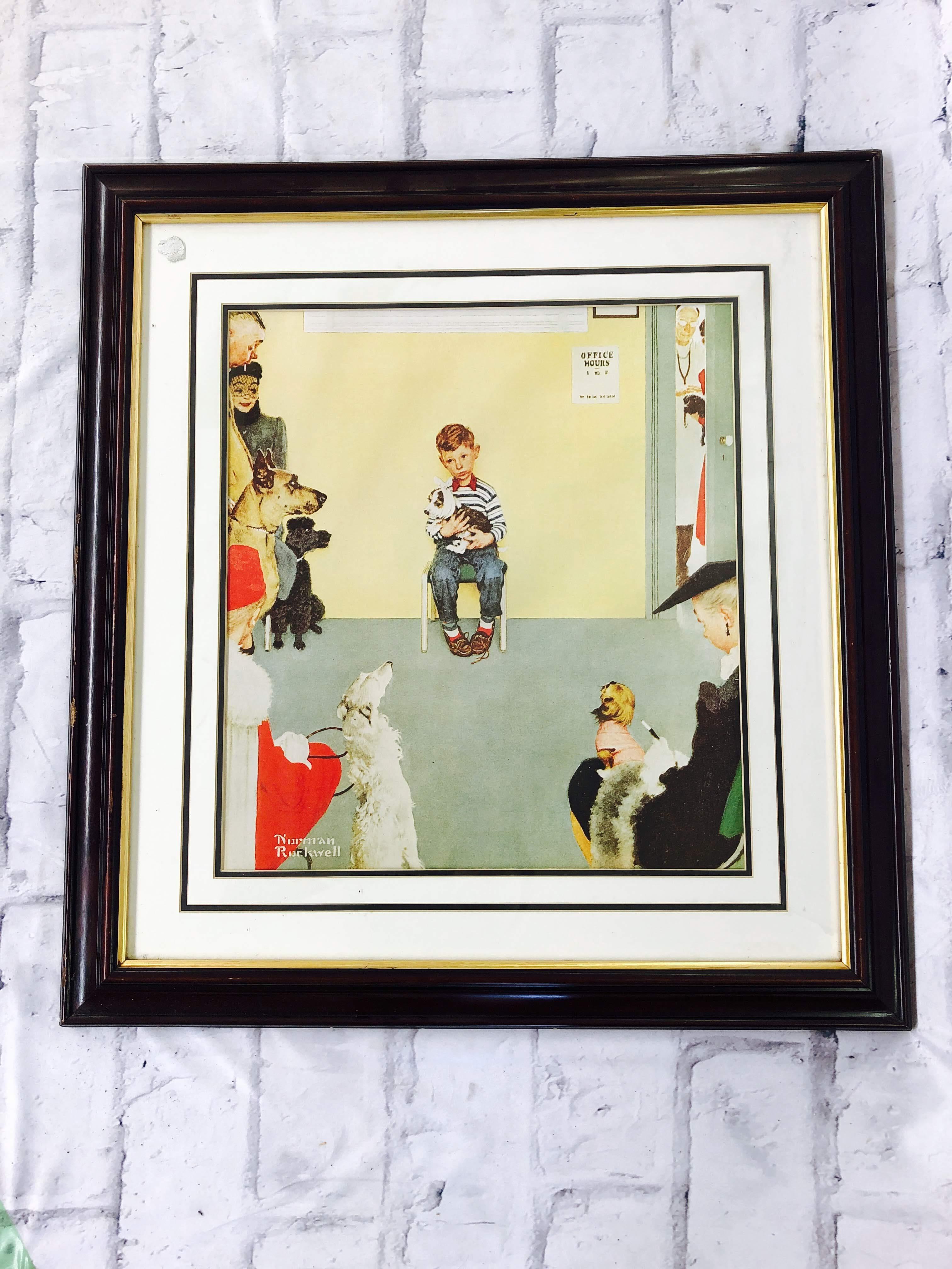 品番2390 ポスター 『少年と傷ついた犬』 Norman Rockwell(ノーマン ロックウェル) アメリカ アート 壁掛