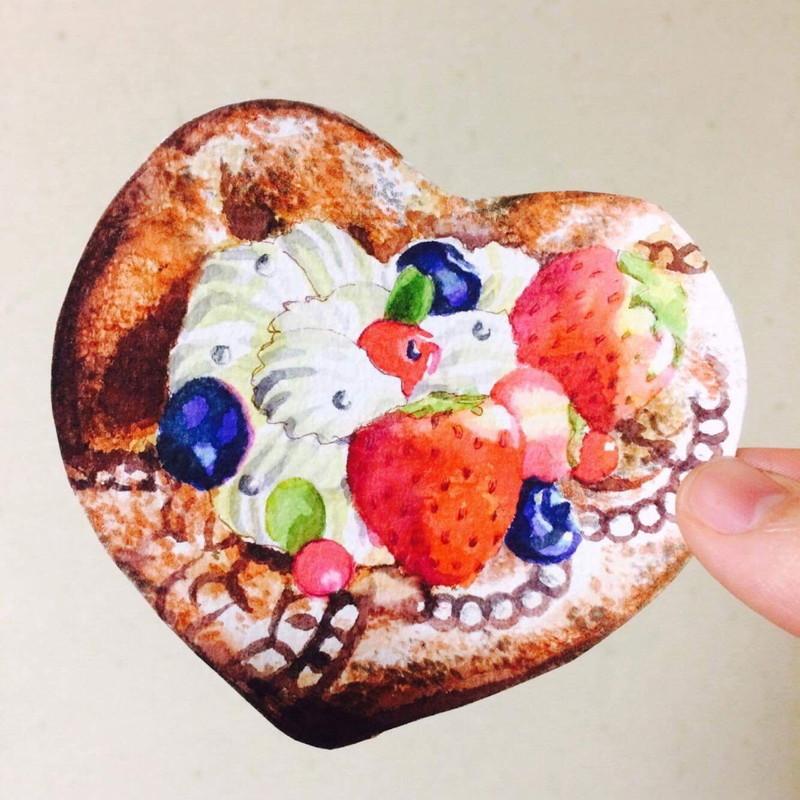 絵画 インテリア アートパネル 雑貨 壁掛け 置物 おしゃれ 水彩画 イラスト 甘い物 お菓子 ロココロ 画家 : ゆりんぐ 作品 : まあまあ、とりあえず甘い物でも