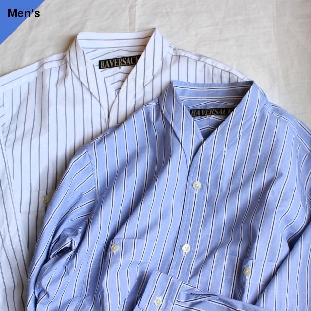 HAVERSACK カラーレスワークシャツ 822028 ヘアラインストライプ 2カラー