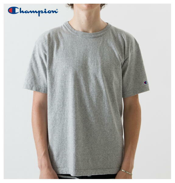 チャンピオン Tシャツ クルーネック T1011 半袖 アメリカ製 メンズ CHAMPION 正規販売店 C5-P301 オックスフォードグレー