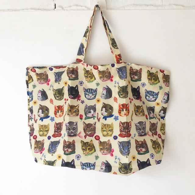 Nathalie Lete Pocketable Eco Bag Cat ナタリーレテ エコバッグ 猫 ネコ