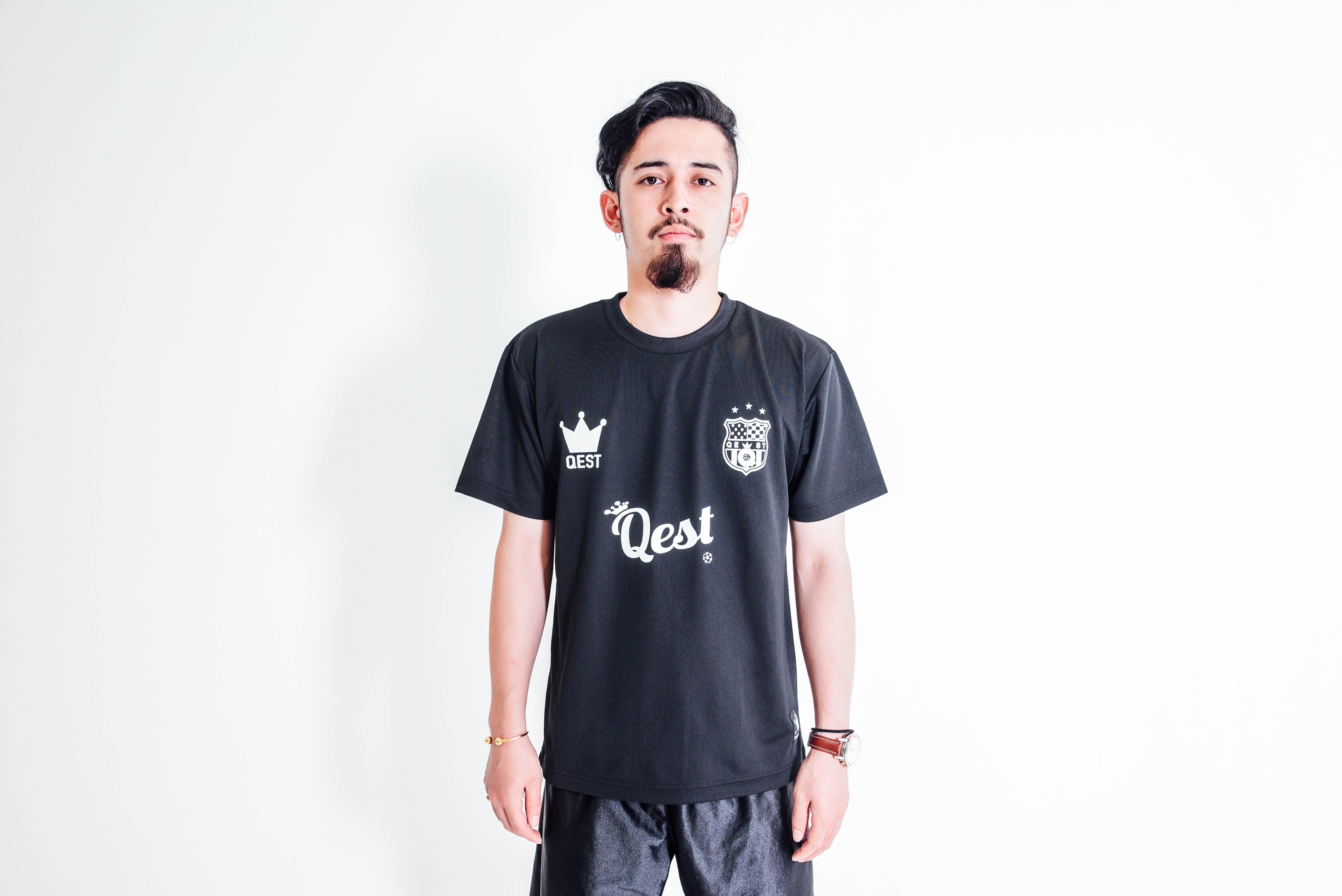 Qest Crown Practice Shirt / Black - 画像4