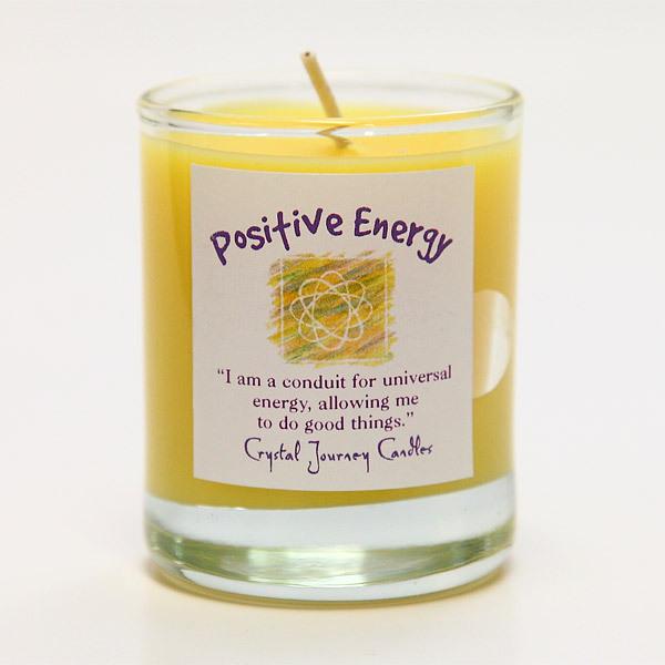 ポジティブさを呼び込む|魔法のヒーリングキャンドル プチグラス(ポジティブ・エナジー |ツキを呼び込む)【Crystal Journey Candles 】