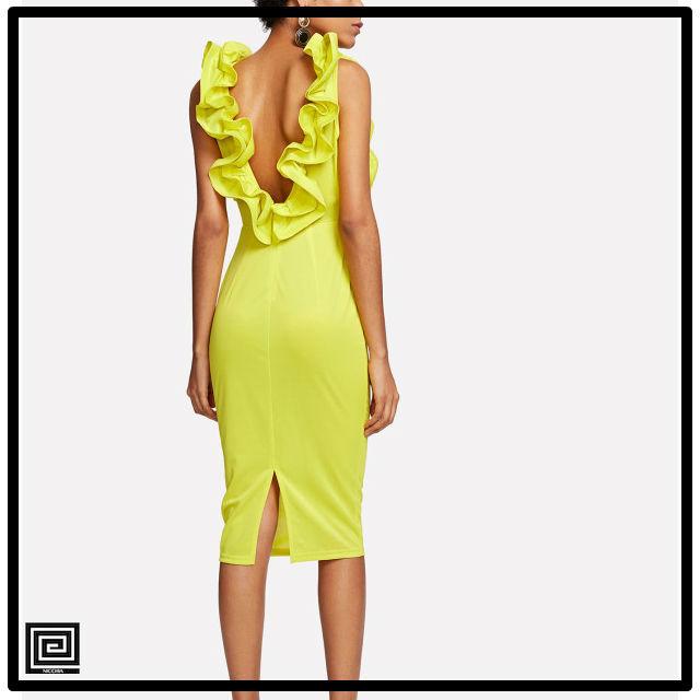 フラワーフォームフィッティングドレス