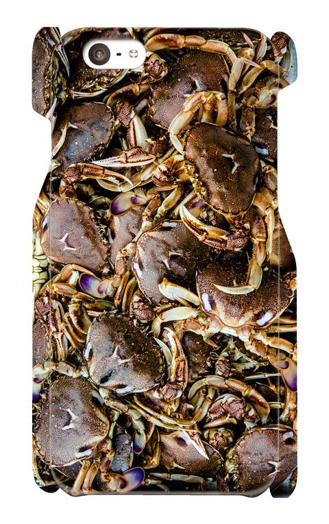 【 iPhone6/6s用 】ヒラツメガニ お魚スマホケース 送料込み