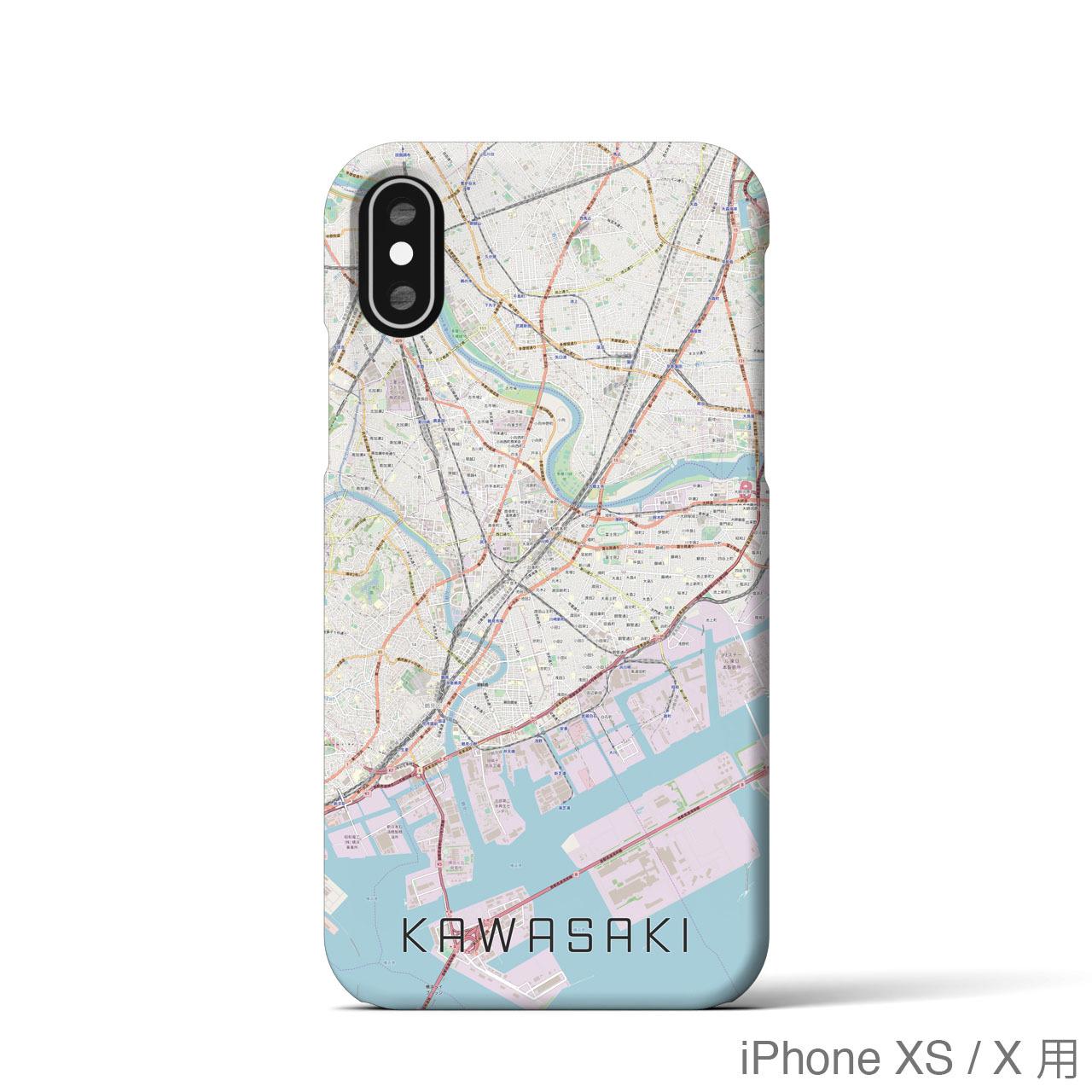 【川崎】地図柄iPhoneケース(バックカバータイプ・ナチュラル)