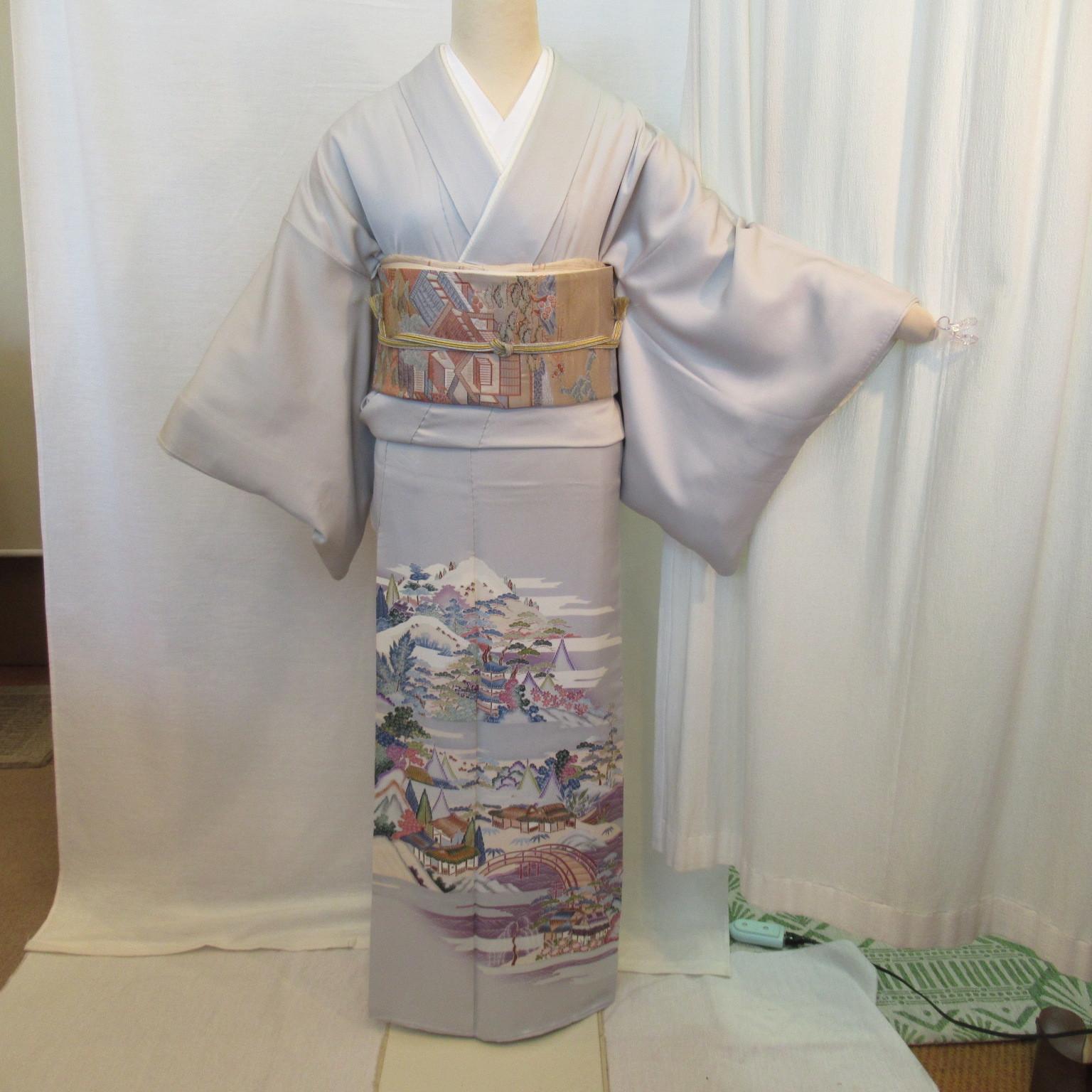 加賀友禅色留袖1195と西陣織袋帯4点セット