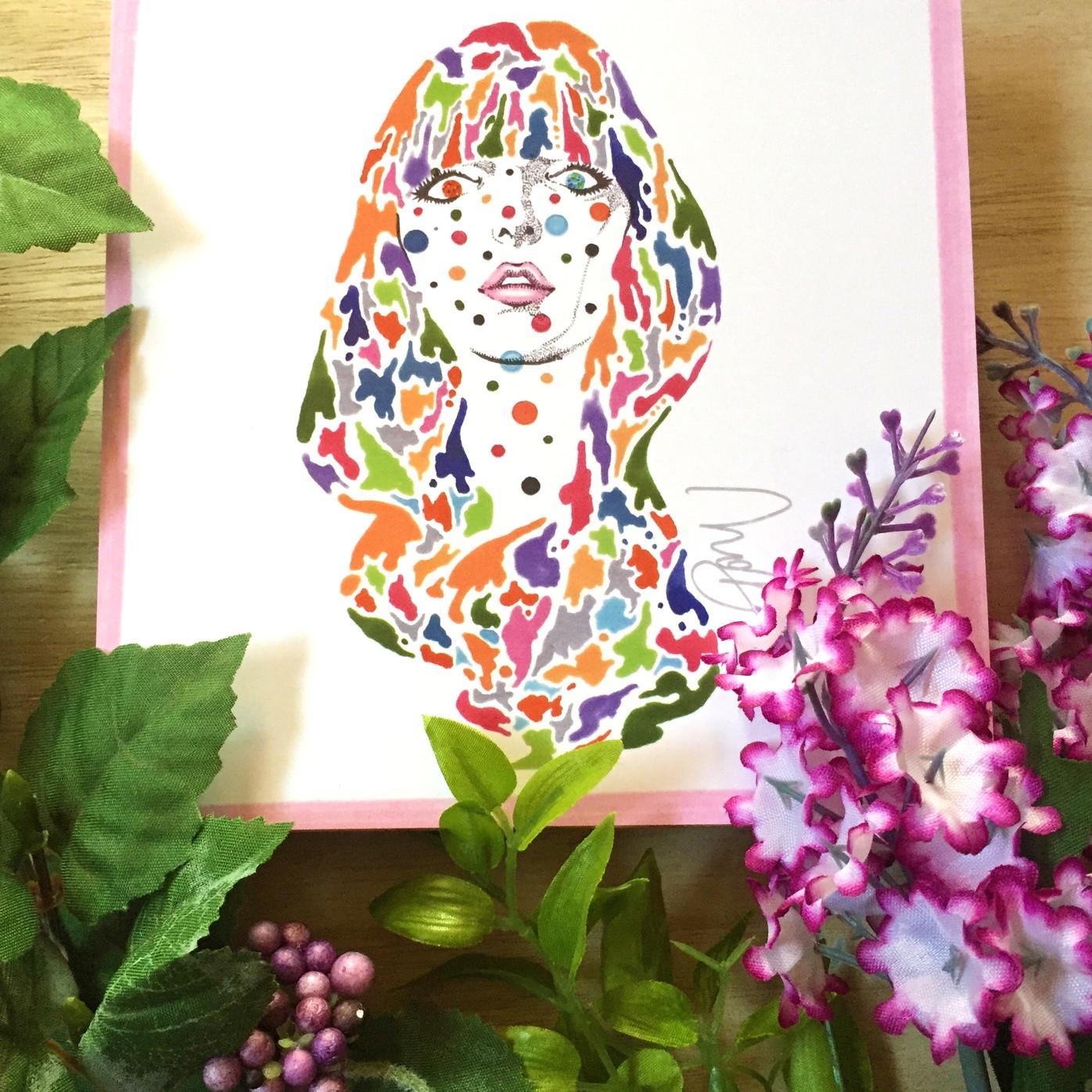 絵画 インテリア アートパネル 雑貨 壁掛け 置物 おしゃれ 女性 現代アート ロココロ 画家 : nob 作品 :  woman