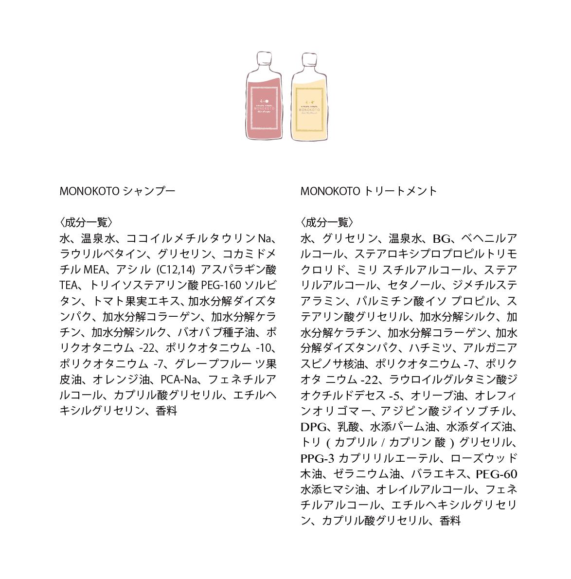 MONOKOTO4 本セット シャンプー&トリートメント