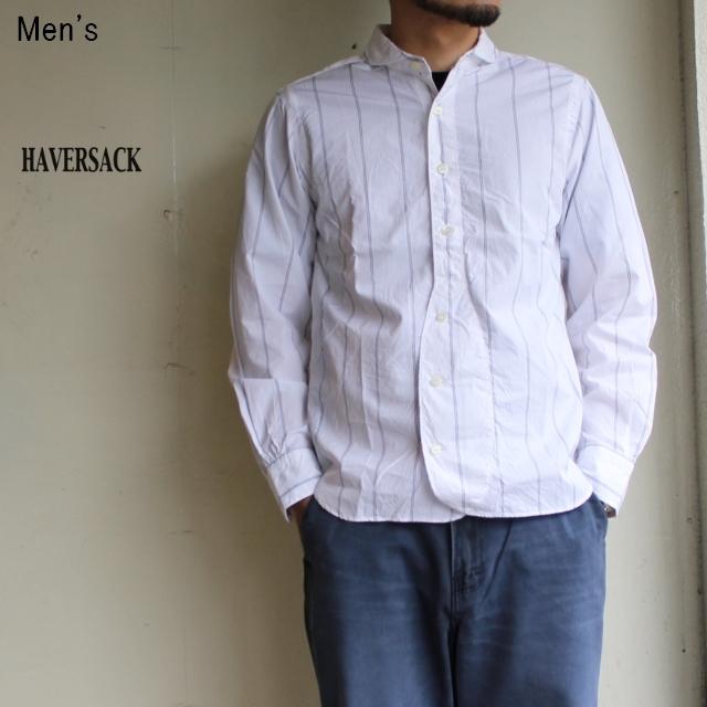 HAVERSACK ハイカウントポプリンシャツ (WHITE)
