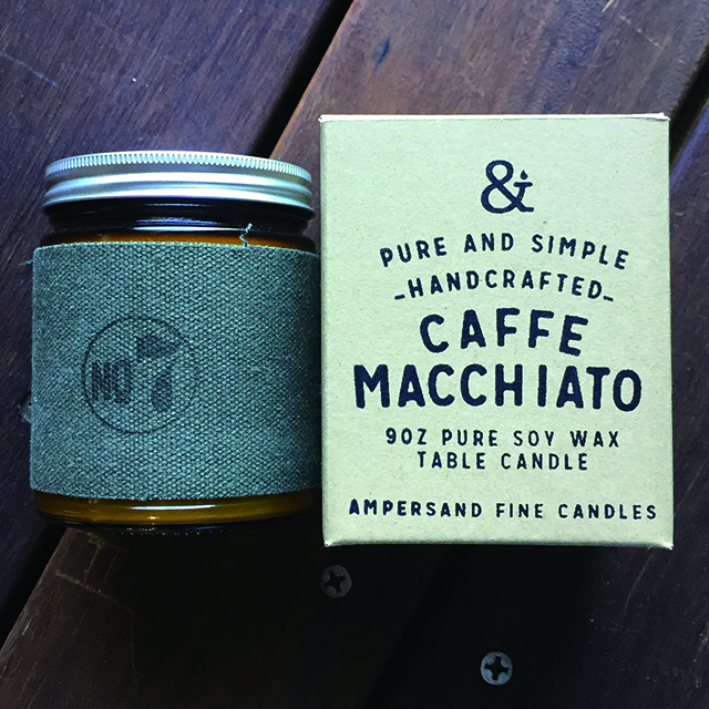 9oz Amber Jar Candle -CAFE MACCHIATO- キャンドル Candles - 画像1