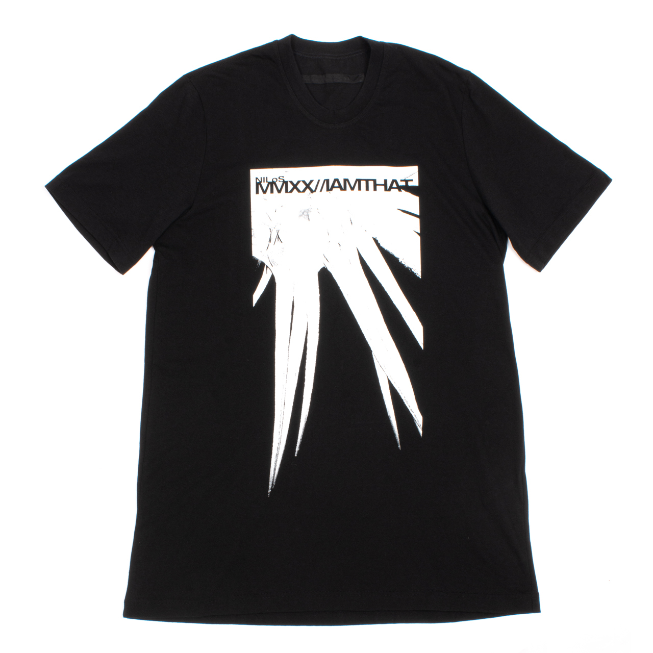720CPM8-BLACK / スパイク プリント Tシャツ
